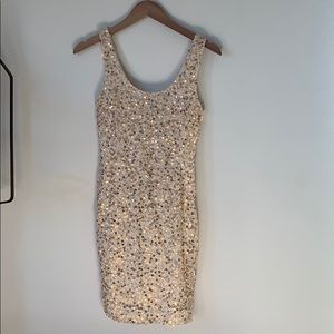 Forever 21 Gold Sequin Dress